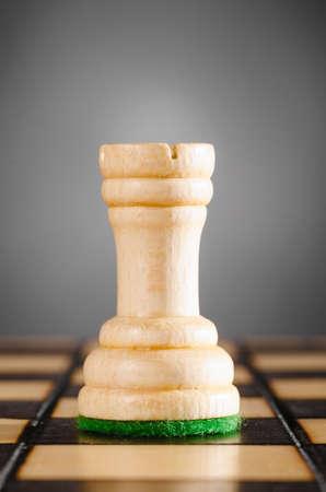 chess rook: wooden rook