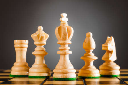 chess rook: wooden chess pieces Stock Photo