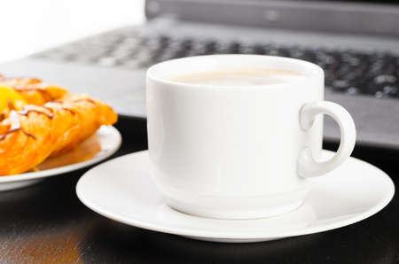 laptop and cup of coffee Stock Photo - 14973436
