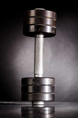 metal barbell photo