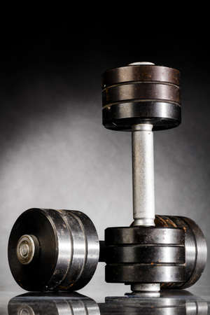 metal barbells photo