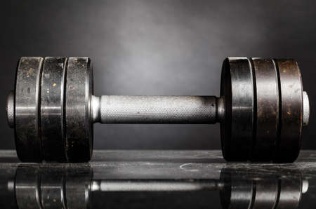 metal barbell photo