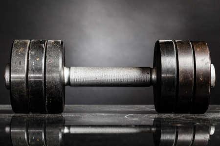 barbell: metal barbell