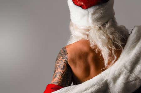 christmas tattoo: santa claus