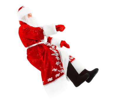 santa claus on invisible car Stock Photo - 15921620