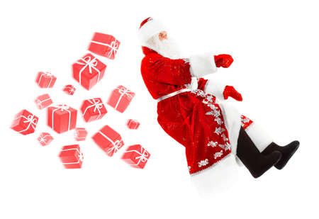 santa claus on invisible car Stock Photo - 15921637