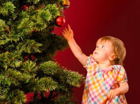 baby with christmas toy Stock Photo - 15921683