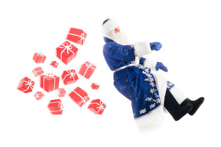 santa claus on invisible car Stock Photo - 15969062