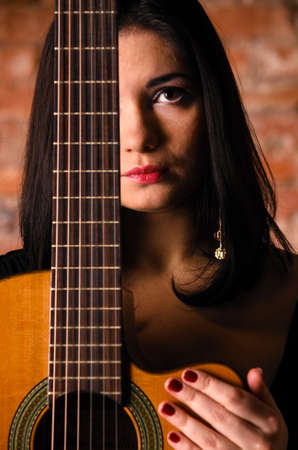 acoustic guitar performer Stock Photo - 17286996