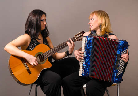 guitar and accordion performers photo