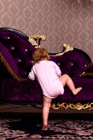 baby in luxury interior photo