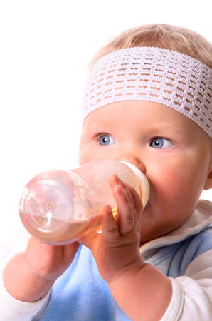 baby is drinking photo