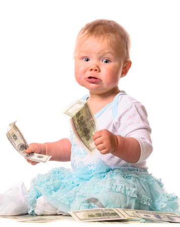 baby op witte Stockfoto