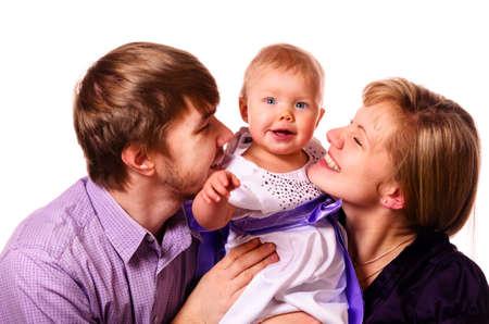 happy family with baby Stock Photo - 17286986