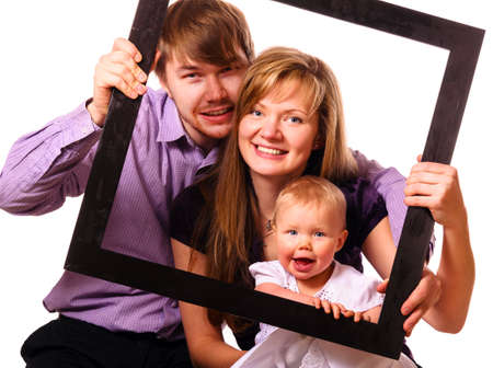 happy family with baby Stock Photo - 17286989