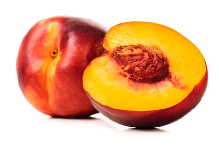 nectarine: ripe peaches Stock Photo
