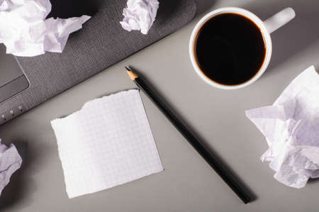 crumpled paper: business creativity concept  Stock Photo