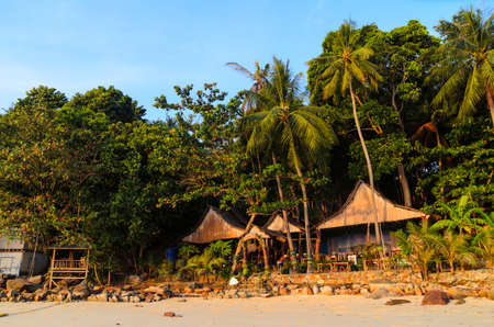 phi phi island: morning beach in Thailand Stock Photo