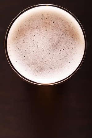 single beer: lager beer on table