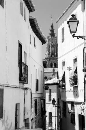 street view at sunny day at Toledo, Madrid, Spain photo