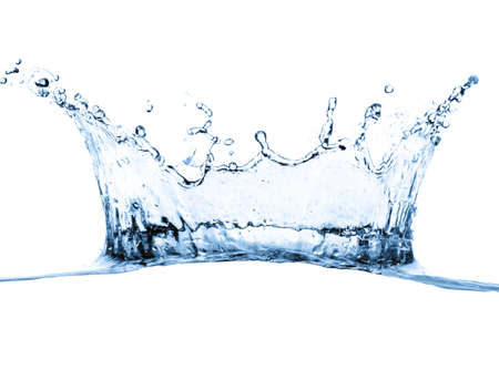 water splash isolated on white photo