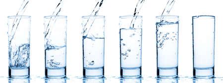 glas vullen met water