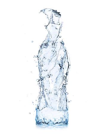 水のボトルのしぶき 写真素材