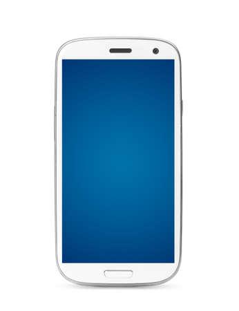 moderne touchscreen smartphone geïsoleerd op een witte achtergrond