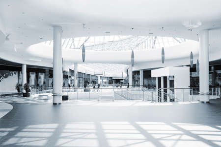 retail scenes: panoramic view of a modern mall