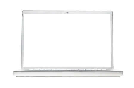 modern laptop isolated on white background photo
