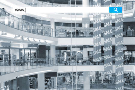 search box on blurred photo of a modern mall Stock Photo - 23123031