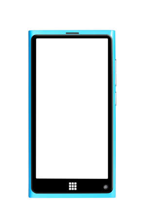 modern touch screen smartphone isolated on white background photo
