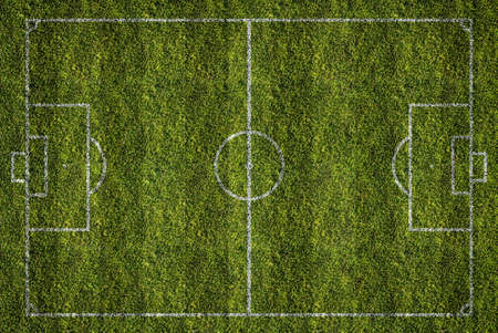 filed: soccer or football filed, top view