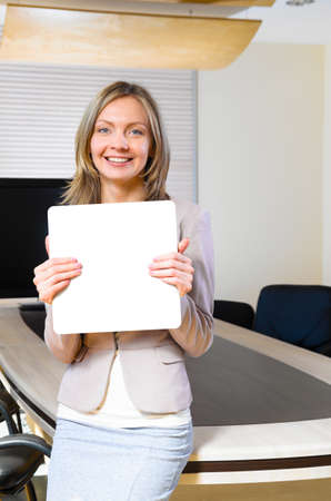 business woman in modern office photo