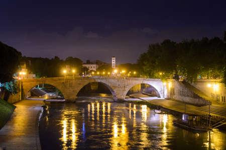 tevere: view of Ponte Cestio, Rome, Italy