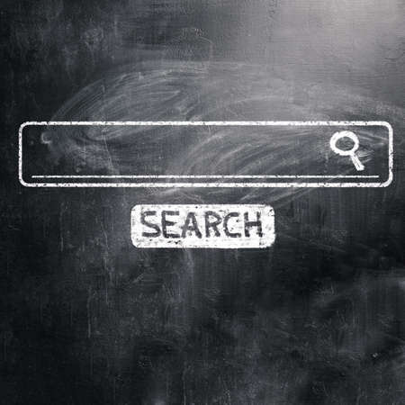 online form: chalk board with search engine