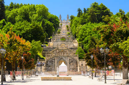 portugal: view of church in Lamego, Portugal