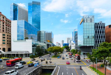 view of Singapore downtown streets