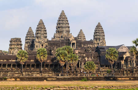 place of worship: Angkor Wat, part of Khmer temple complex, popular among tourists ancient lanmark and place of worship in Southeast Asia. Siem Reap, Cambodia.