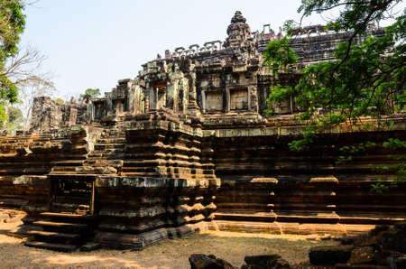 place of worship: Baphuon, part of Khmer Angkor temple complex, popular among tourists ancient lanmark and place of worship in Southeast Asia. Siem Reap, Cambodia. Stock Photo