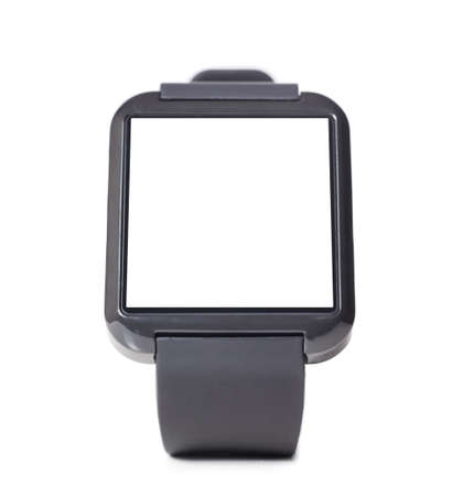 smartly: modern smart watch with blank screen isolated on white background