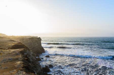 coastline: ocean coastline in Peniche, Portugal