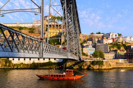 luis: view of Dom Luis I bridge in Porto, Portugal