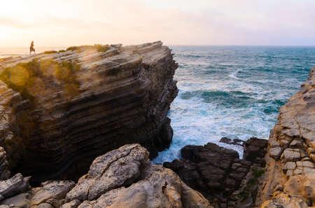 coastlines: ocean coastline in Peniche, Portugal