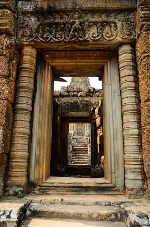 place of worship: East Mebon, part of Khmer Angkor temple complex, popular among tourists ancient landmark and place of worship in Southeast Asia. Siem Reap, Cambodia.