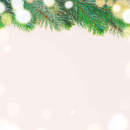 marcos decorativos: abeto de navidad en la superficie blanca, vista desde arriba