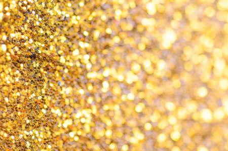 colorido: abstracta de oro del brillo de fondo de Navidad, la fotografía macro Foto de archivo