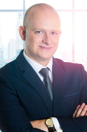 edad media: Edad Media caucásica hombre de negocios retrato
