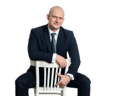 edad media: Edad Media cauc�sica hombre de negocios retrato