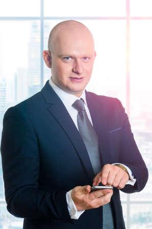 middle ages caucasian business man portrait photo